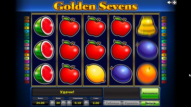 популярный слот Golden Sevens 10