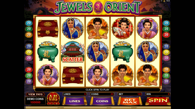 популярный слот Jewels Of The Orient 1