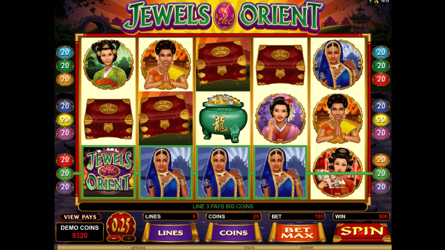 игровой автомат Jewels Of The Orient 9