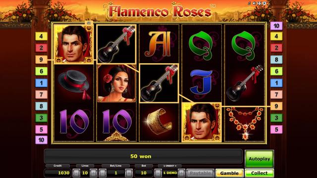 игровой автомат Flamenco Roses 4