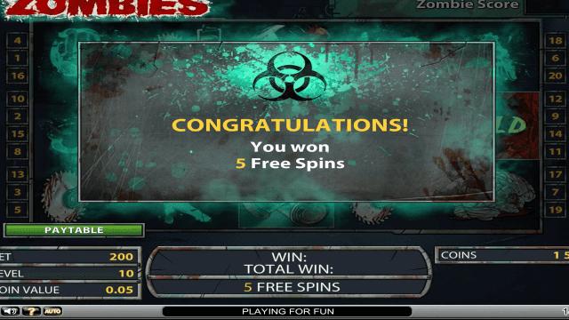 игровой автомат Zombies 7