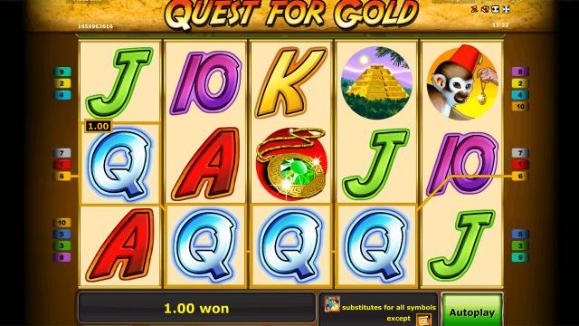 популярный слот Quest For Gold 10