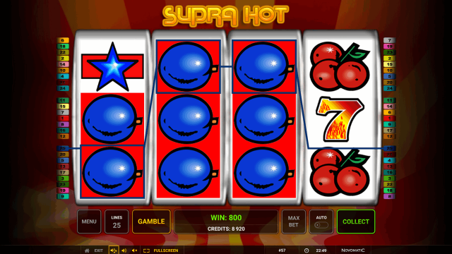 онлайн аппарат Supra Hot 8