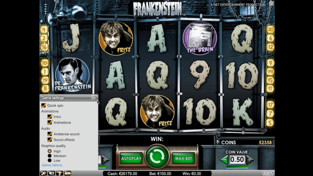 игровой автомат Frankenstein 4