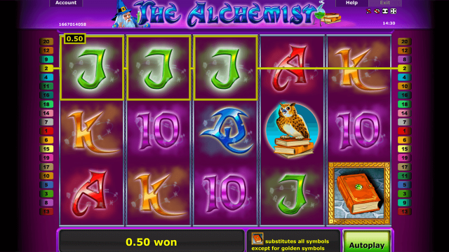 популярный слот The Alchemist 9
