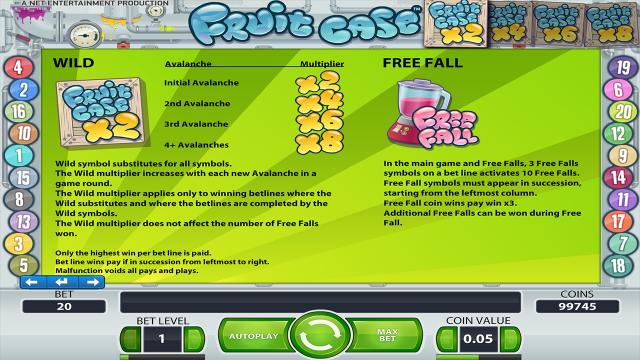 онлайн аппарат Fruit Case 2