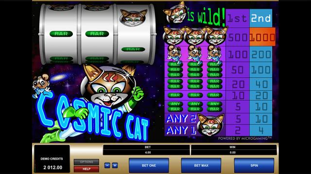 игровой автомат Cosmic Cat 3
