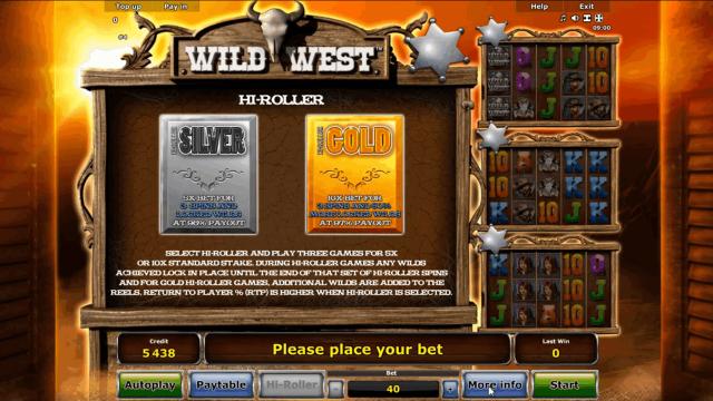 онлайн аппарат Wild West 3