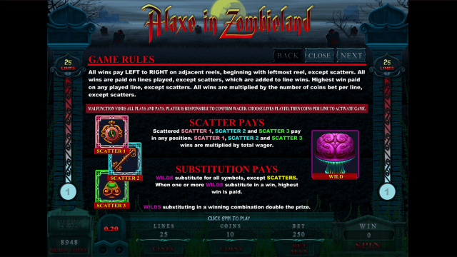 игровой автомат Alaxe In Zombieland 5