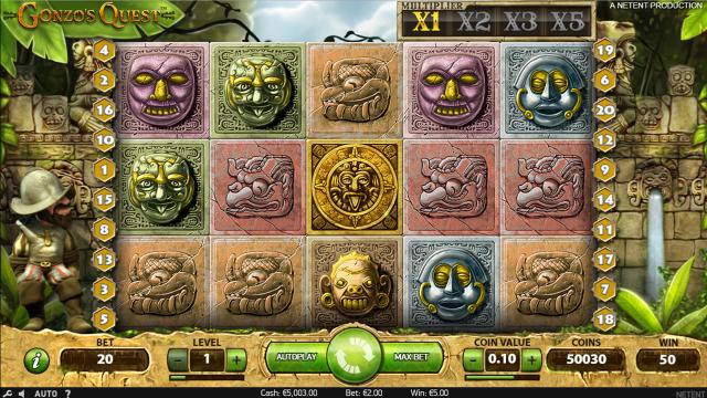 онлайн аппарат Gonzo's Quest 5