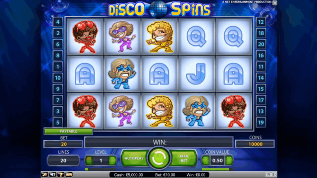 популярный слот Disco Spins 9
