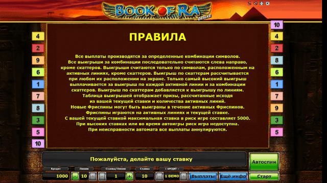 игровой автомат Book Of Ra Deluxe 5