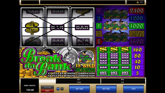 игровой автомат Break Da Bank 5