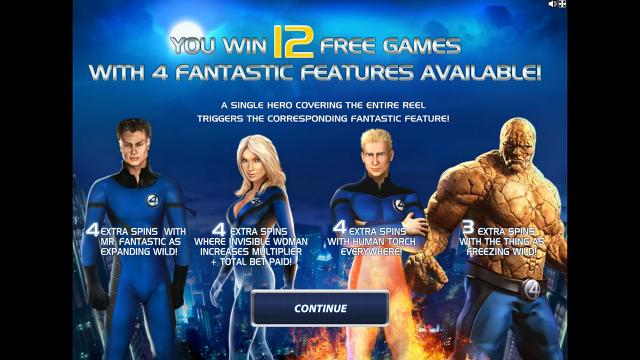 игровой автомат Fantastic Four 16