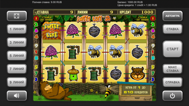 игровой автомат Sweet Life 2 1