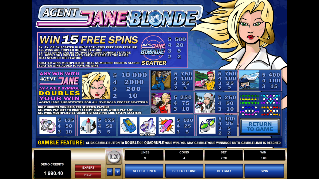 онлайн аппарат Agent Jane Blonde 6