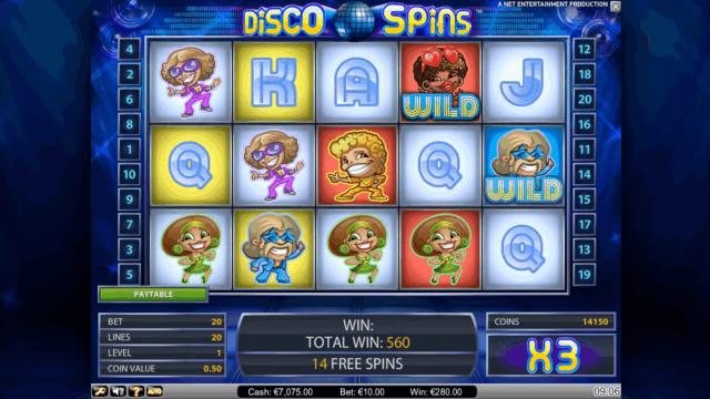 онлайн аппарат Disco Spins 10