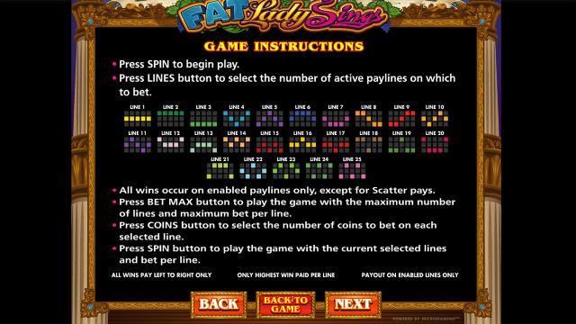 игровой автомат Fat Lady Sings 10