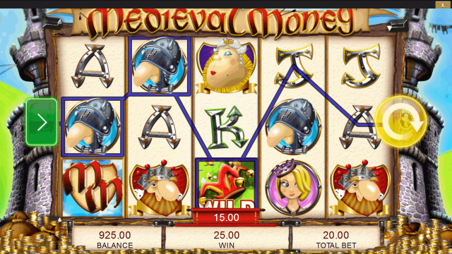 популярный слот Medieval Money 1