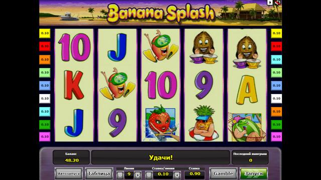игровой автомат Banana Splash 3