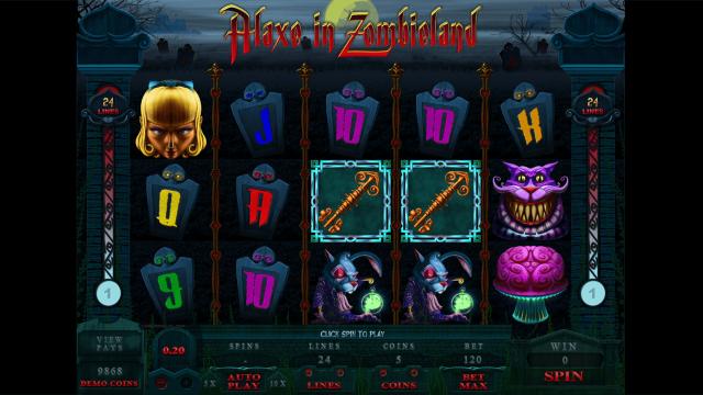 игровой автомат Alaxe In Zombieland 2