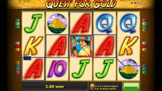 популярный слот Quest For Gold 8