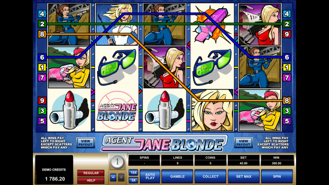 популярный слот Agent Jane Blonde 10