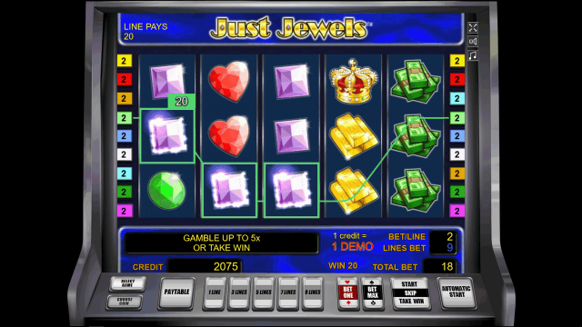 игровой автомат Just Jewels 9