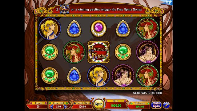 игровой автомат Nouveau Riche 8