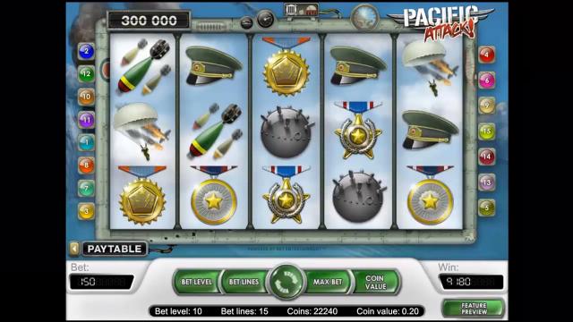 игровой автомат Pacific Attack 9