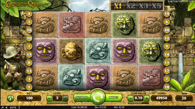 популярный слот Gonzo's Quest 6