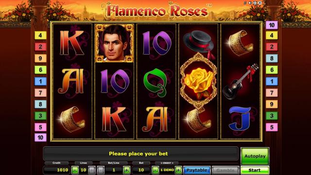 популярный слот Flamenco Roses 6