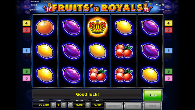 популярный слот Fruits And Royals 1
