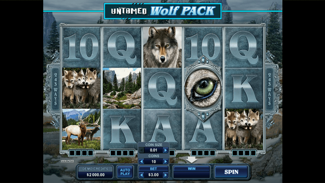 игровой автомат Untamed Wolf Pack 2