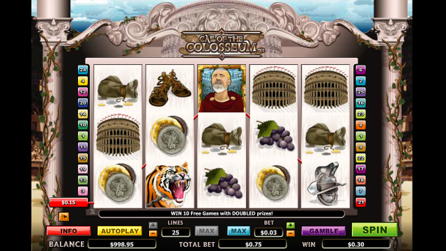 популярный слот Call Of The Colosseum 9