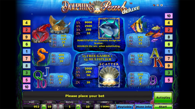 игровой автомат Dolphin's Pearl Deluxe 9