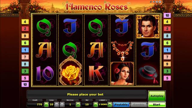 популярный слот Flamenco Roses 8