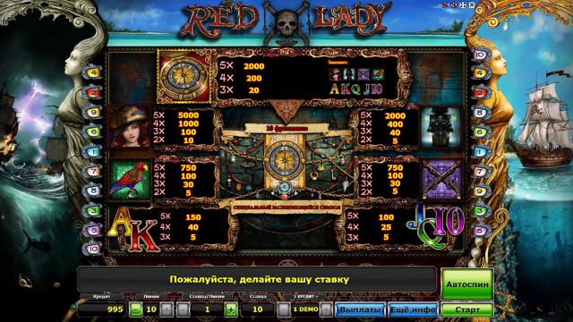игровой автомат Red Lady 4