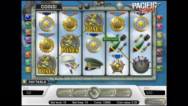 популярный слот Pacific Attack 3