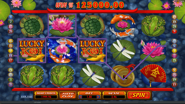 онлайн аппарат Lucky Koi 7