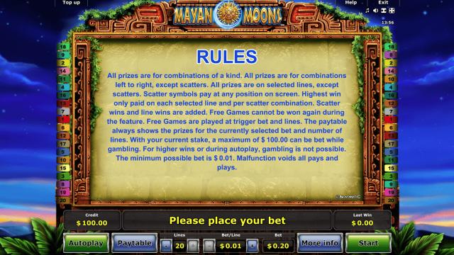 игровой автомат Mayan Moons 5