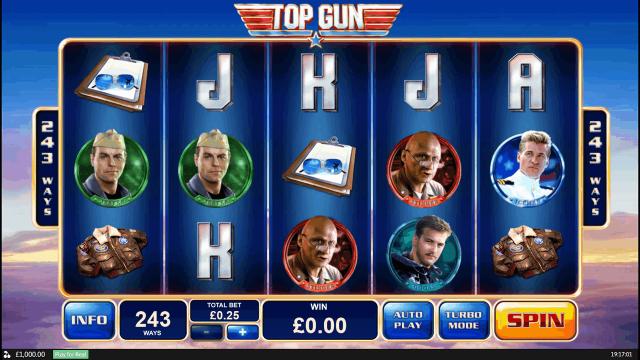 популярный слот Top Gun 1