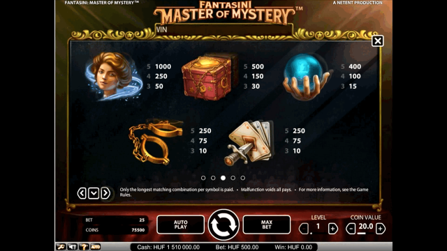 онлайн аппарат Fantasini: Master Of Mystery 3