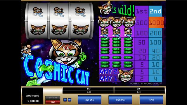игровой автомат Cosmic Cat 1