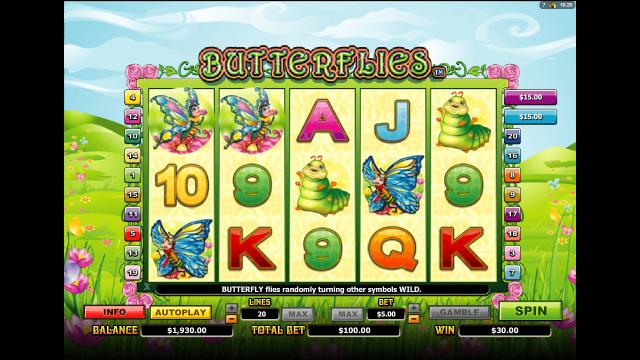 онлайн аппарат Butterflies 7
