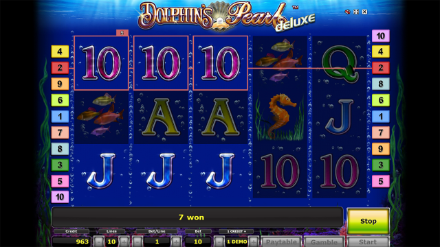 популярный слот Dolphin's Pearl Deluxe 7