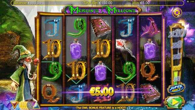 онлайн аппарат Merlin's Millions 7