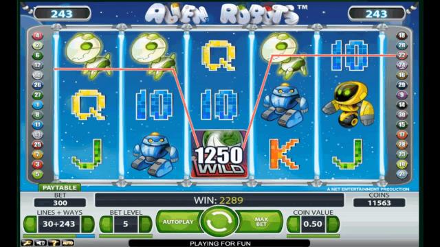 игровой автомат Alien Robots 4