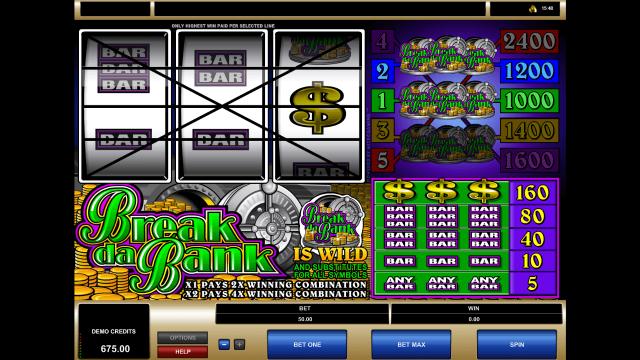 игровой автомат Break Da Bank 6