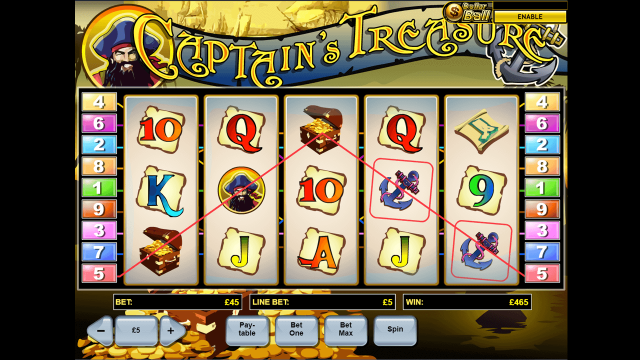 игровой автомат Captain's Treasure 9